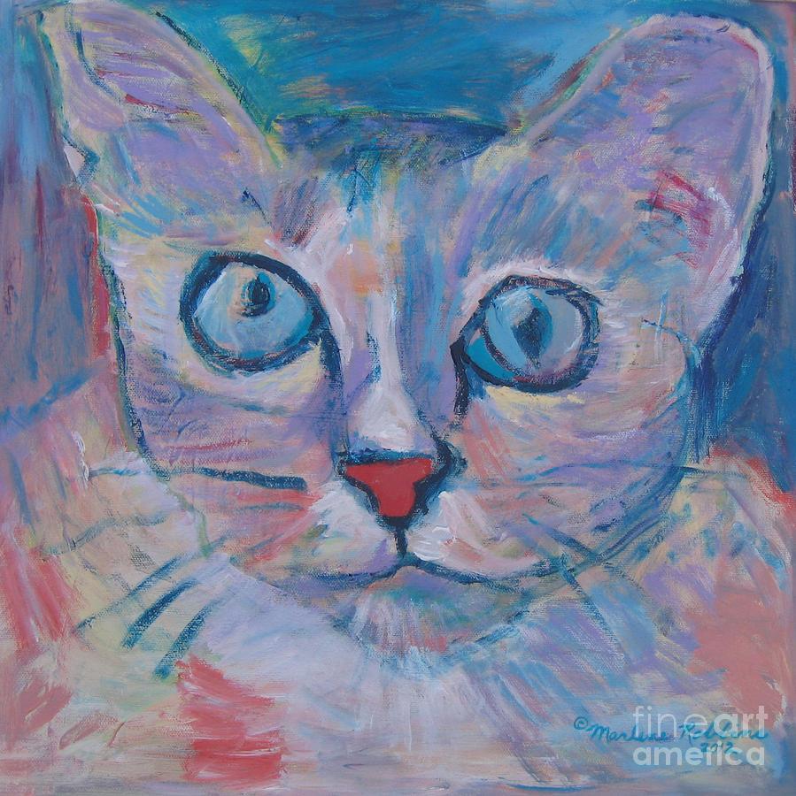 Cat Painting - Spirit by Marlene Robbins