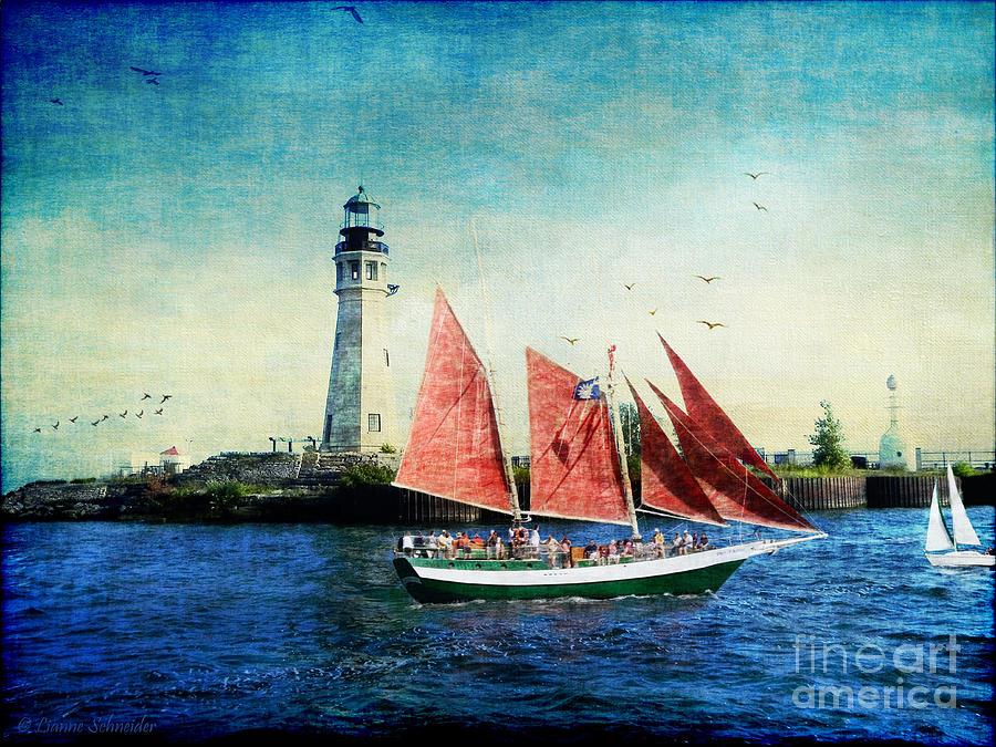 Ship Digital Art - Spirit Of Buffalo by Lianne Schneider
