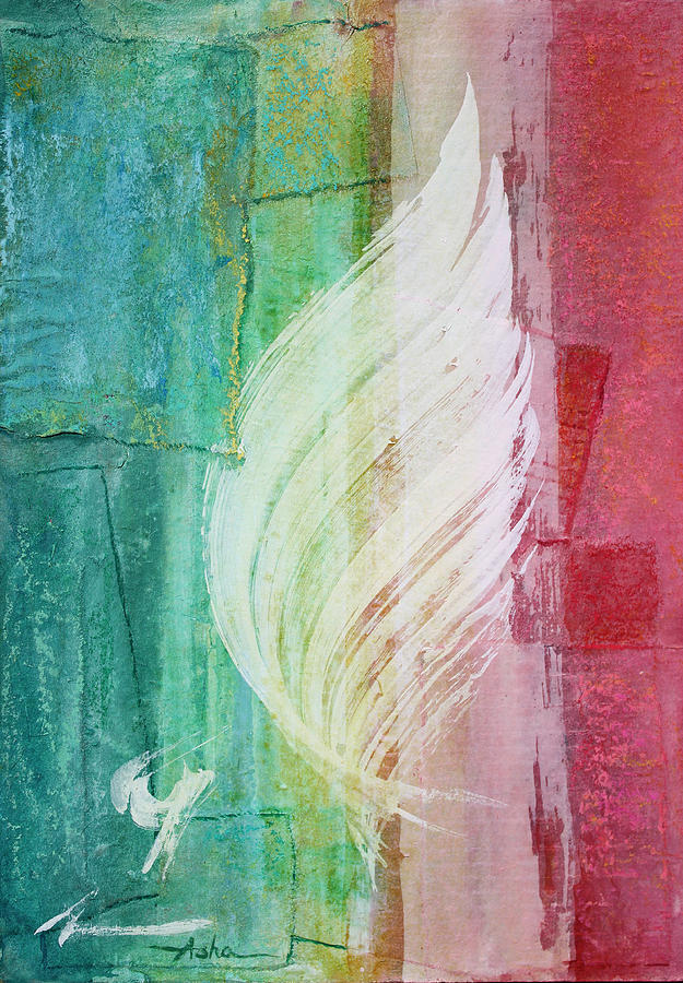 Abstract Painting Painting - Spirit Of Christmas by Asha Carolyn Young