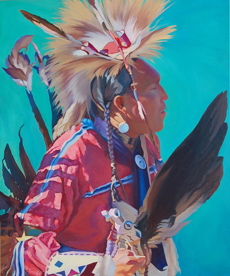 Native American Painting - Spirit of the Dance by Christine Lytwynczuk