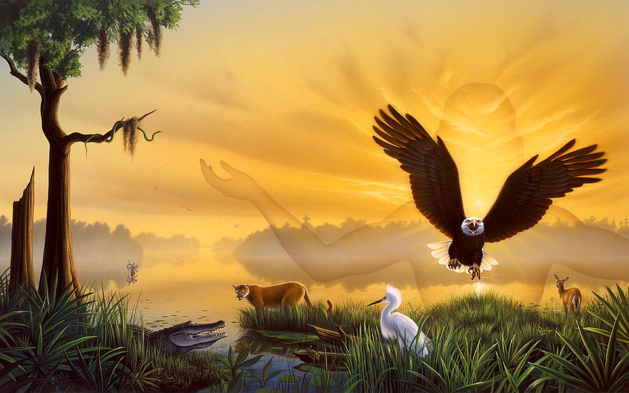Eagle Painting - Spirit Of The Everglades by Jerry LoFaro