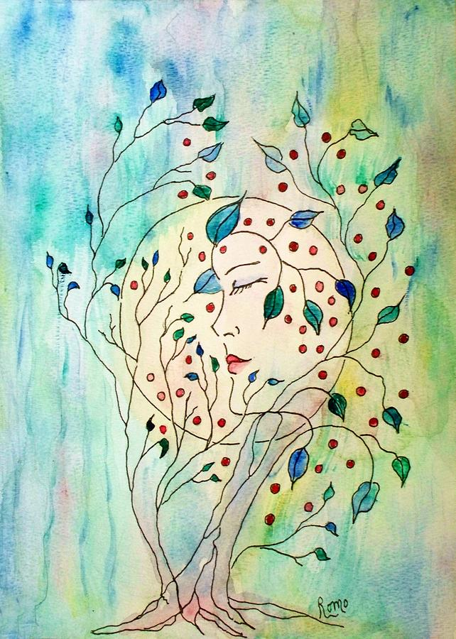 Watercolor Painting Painting - Spirit Of The Forest by Robin Monroe