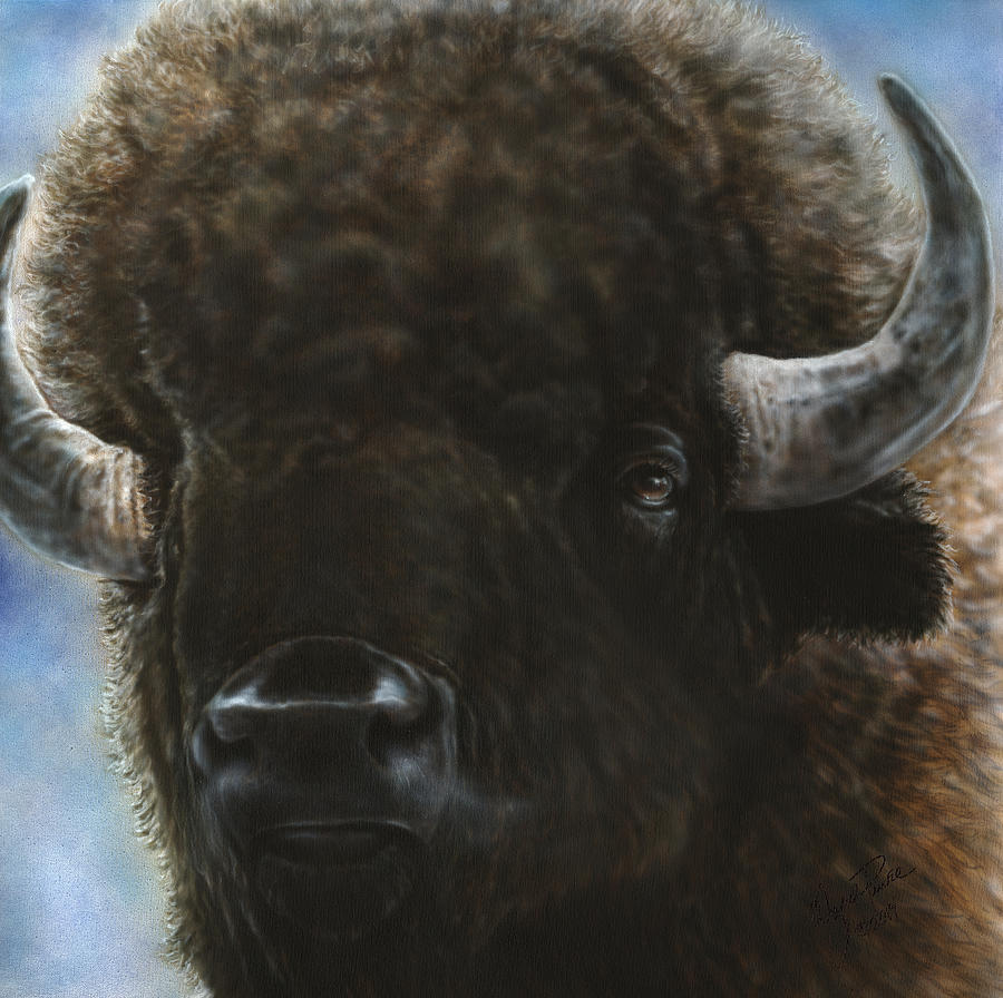 Buffalo Painting - Spirit Of The Plains II by Wayne Pruse