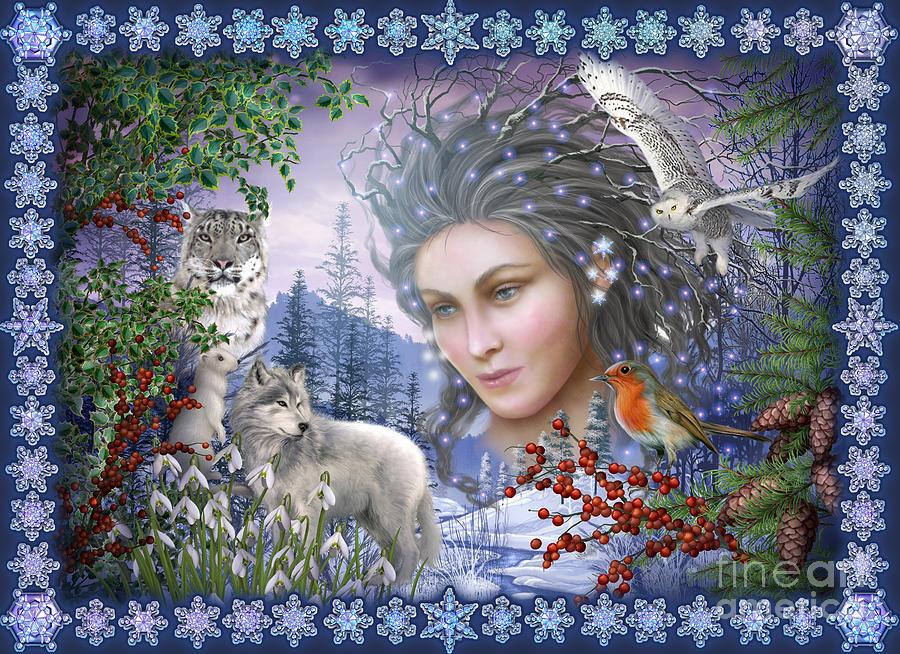 Woman Poster Digital Art - Spirit Of Winter Variant I by Ciro Marchetti
