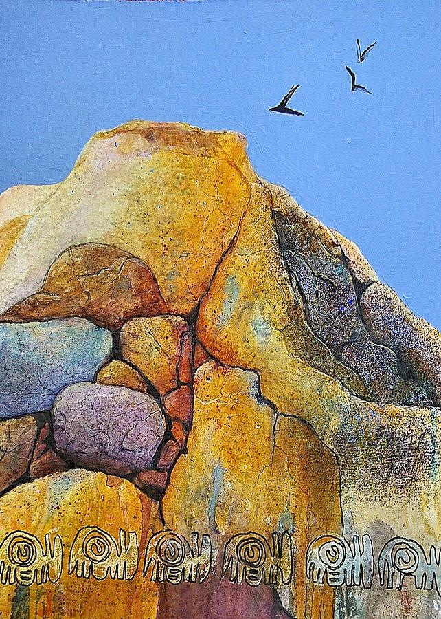 Rocks Painting - Spirit Of Zimbabwe by JAXINE Cummins