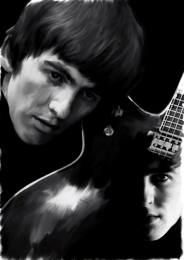 Spirit Play George Harrison by Iconic Images Art Gallery David Pucciarelli