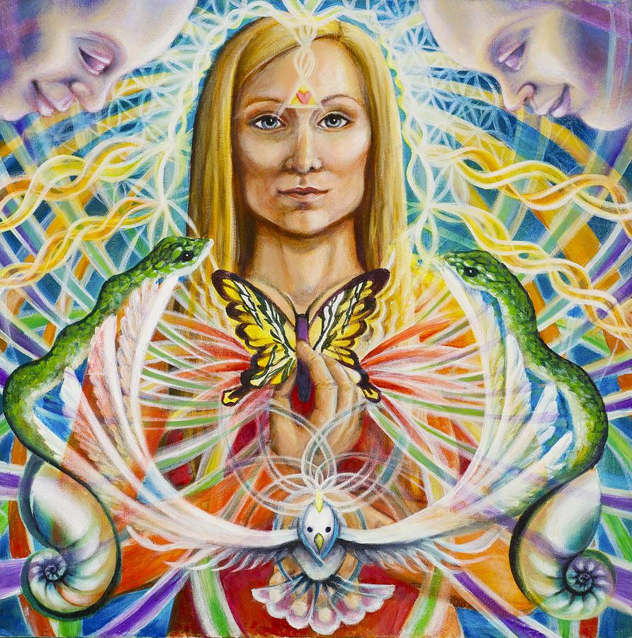 Aura Painting - Spirit Portrait by Morgan  Mandala Manley