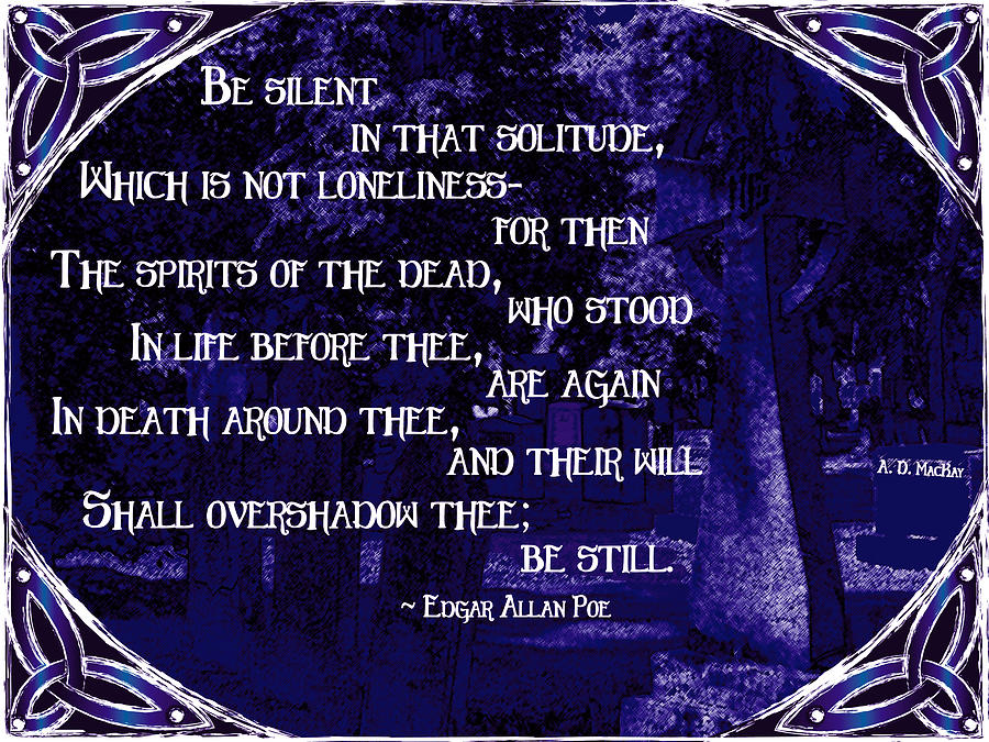 Cemetery Digital Art - Spirits of the Dead in Violet by Celtic Artist Angela Dawn MacKay