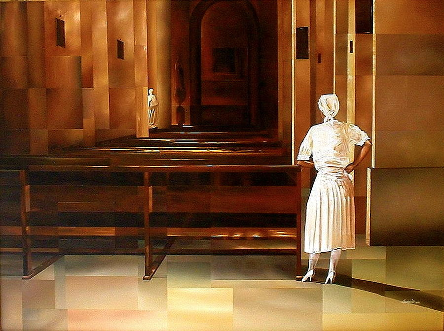 Indoors Painting - Spiritual Enlightenment by Laurend Doumba