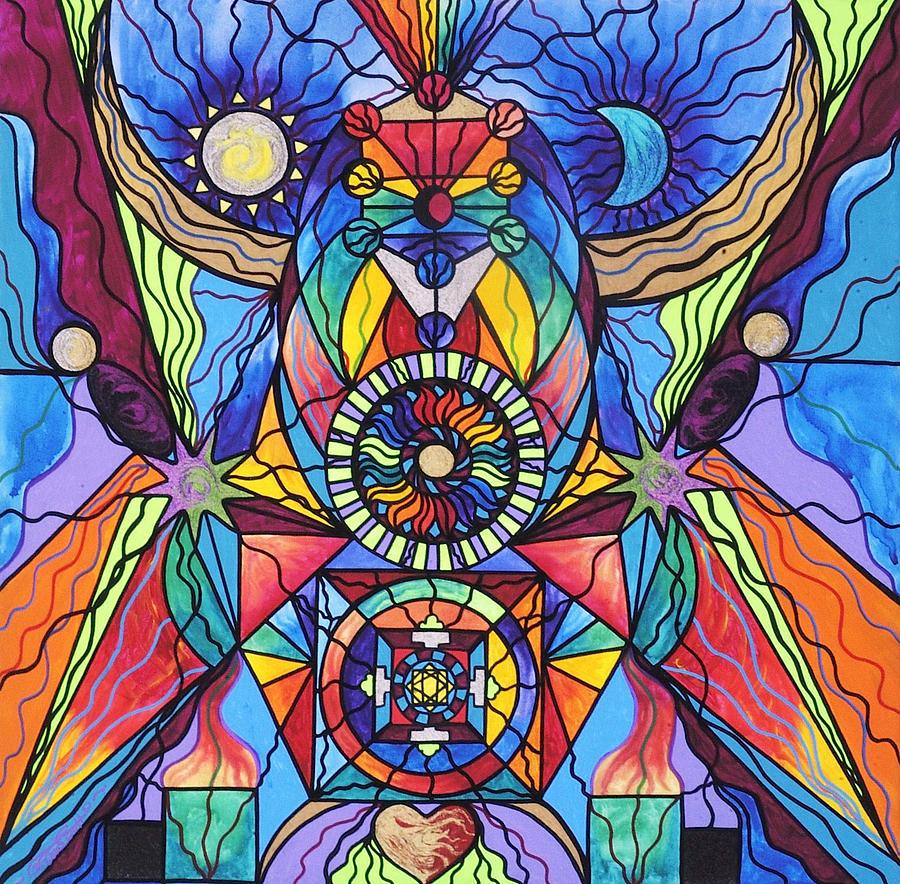 Spiritual Teacher Painting - Spiritual Guide by Teal Eye  Print Store