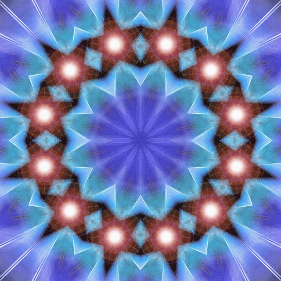 Sacredlife Mandalas Drawing - Spiritual Pulsar K1 by Derek Gedney