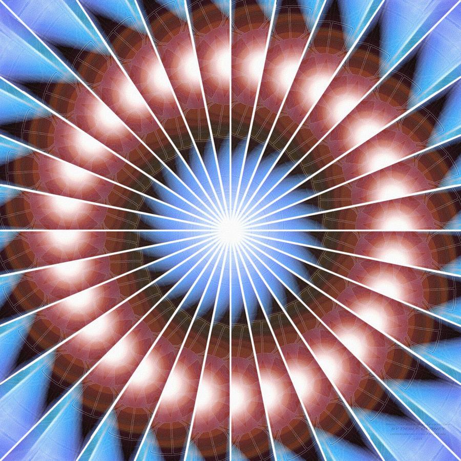 Sacredlife Mandalas Drawing - Spiritual Pulsar Kaleidoscope by Derek Gedney