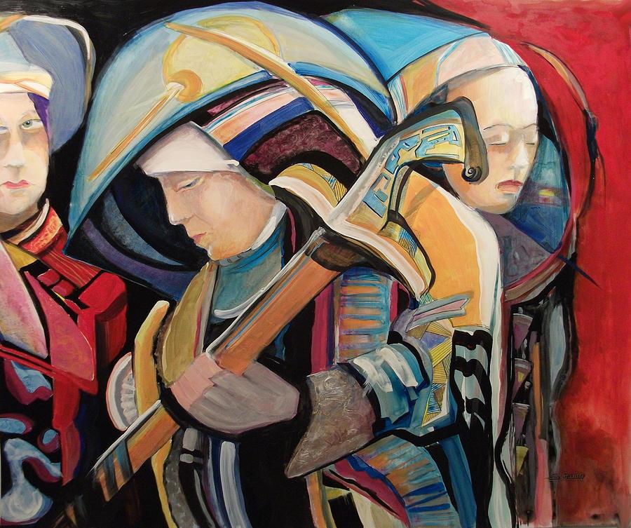 Sword Painting - Spiritual Soldiers by Shane Guinn