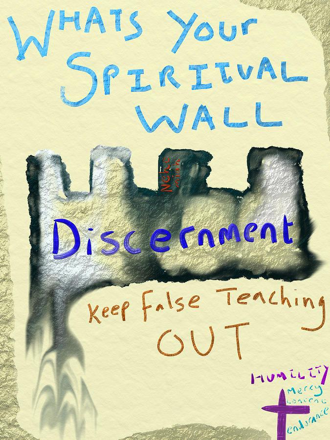 Digital Art - Spiritual Wall by Michael Jordan