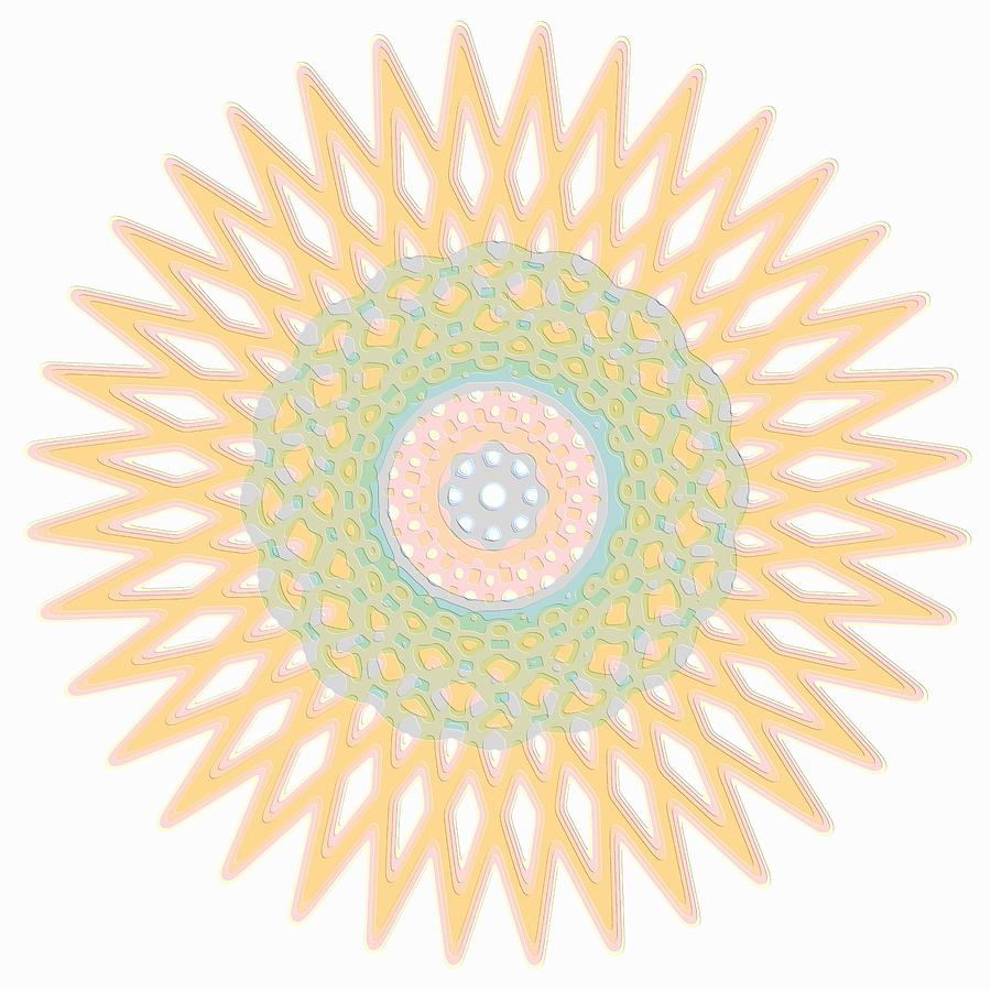 Graphic Digital Art - Spirograph Star Graphic Art by Mary Clanahan