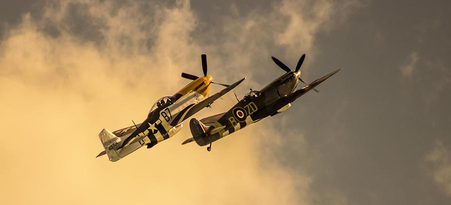 Duxford Photograph - Spitfire by Martin Newman