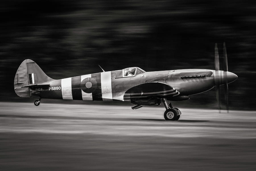 Military Photograph - Spitfire Mk Xix by J??r??me Licois