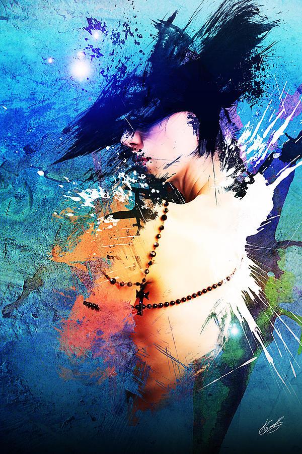 Beautiful Digital Art - Splash by Aj Collyer