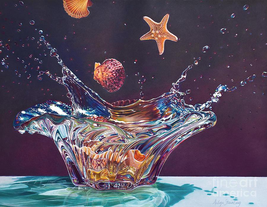 Colored Pencil Painting - Splash Down by Arlene Steinberg
