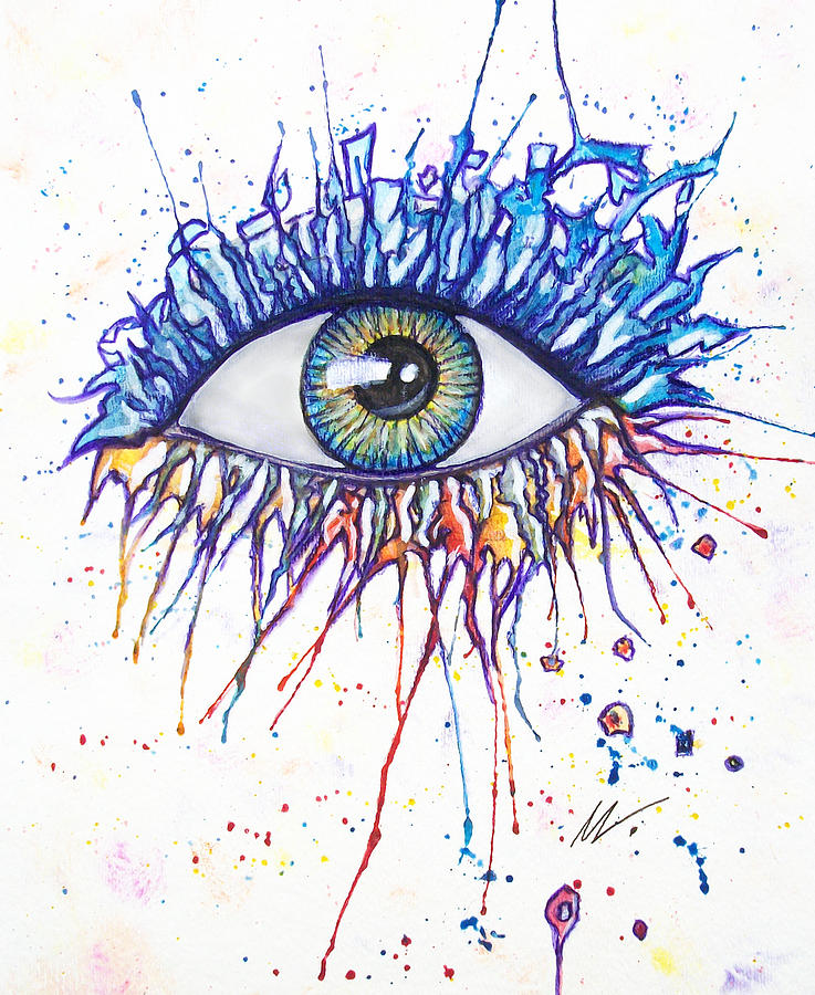 Splash Eye 1 by Kiki Art