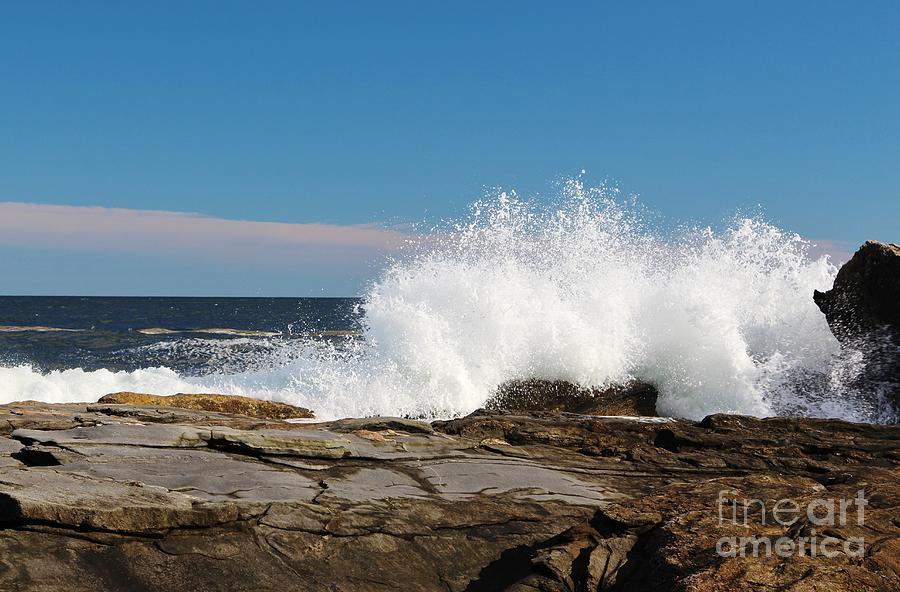 Maine Photograph - Splash Harbor by Karin Pinkham