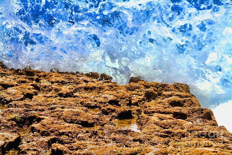 Water Photograph - Splash In La Jolla By Diana Sainz by Diana Raquel Sainz