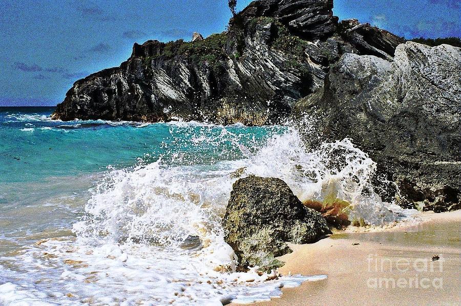 Bermuda Photograph - Splash by Judy Palkimas