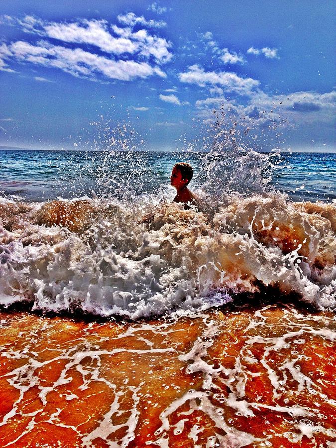 Boy Photograph - Splash by Julianne Baltrus