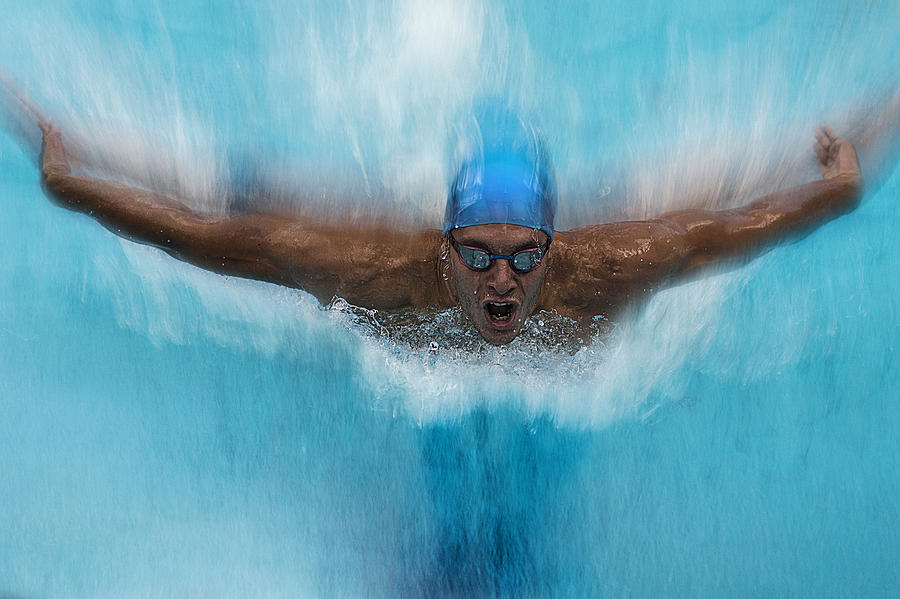 Swim Photograph - Splash by Milan Malovrh