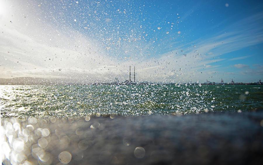Splash On Shoreline Photograph by Leverstock
