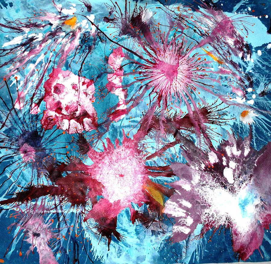 Abstract Painting - Splash by Sumit Mehndiratta