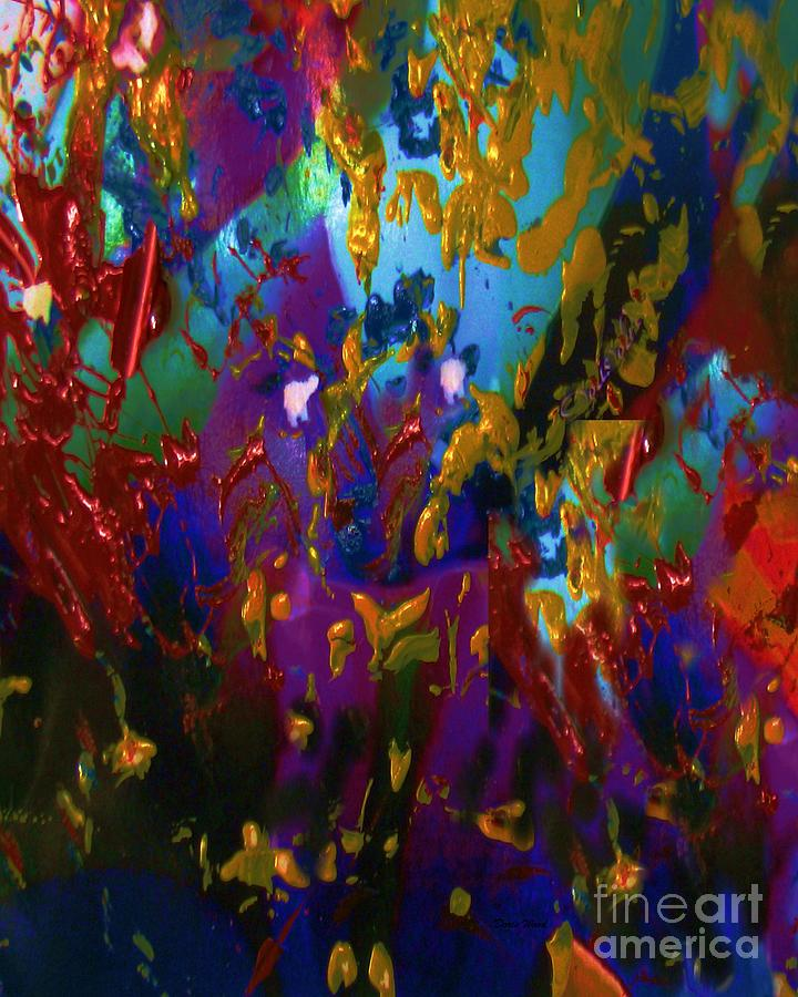 Abstract Acrylic Painting - Splatter by Doris Wood