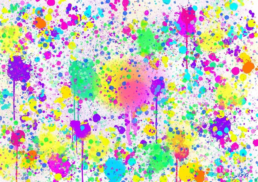Splatters Painting - Splatter Time by Nick Gustafson
