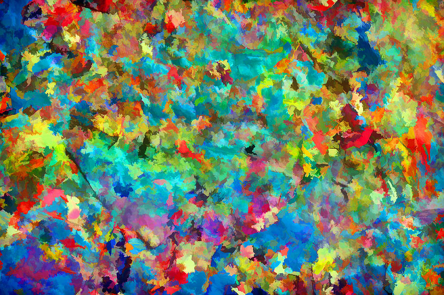Abstract Painting - Splatter Works IV by Tina Baxter