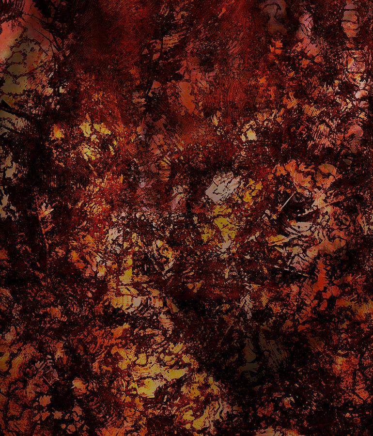 Fall Digital Art - Splattered  by James Barnes