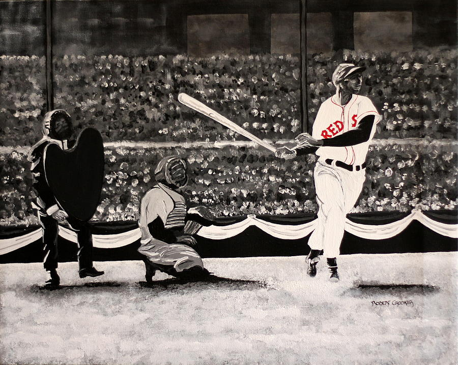Ted Williams Painting - Splendid by Robert Crooker