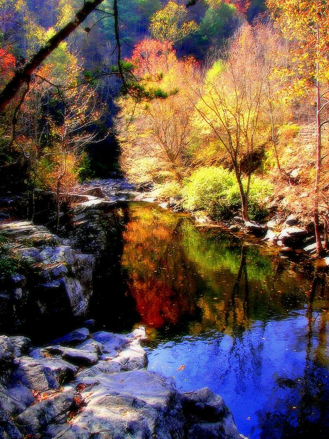 Water Reflections Photograph - Splendor Of Autumn by Karen Wiles