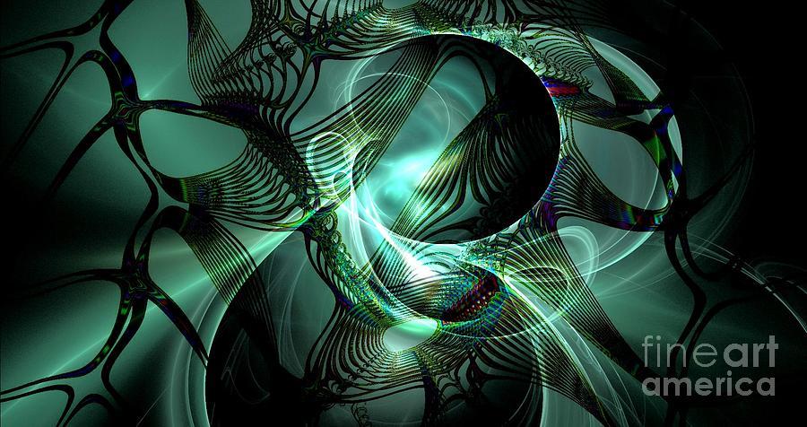 Peter R Nicholls Abstract Fine Artist Canada Digital Art - Splendor by Peter R Nicholls