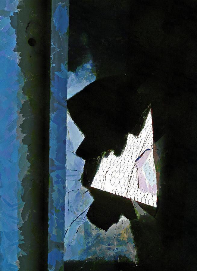 Hole Digital Art - Splintered  by Steve Taylor