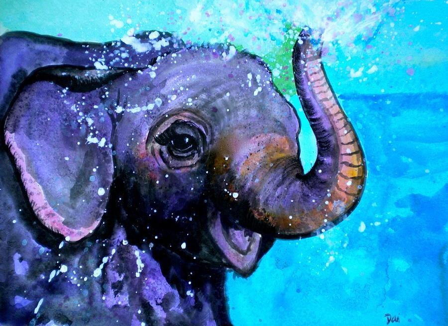 Splish Splash Painting - Splish Splash by Debi Starr