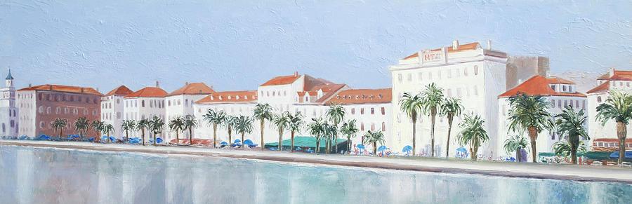 Split Painting - Split Croatia Adriatic Coast by Jan Matson