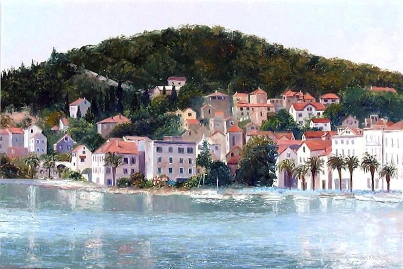 Split Painting - Split Harbour Croatia by Jan Matson