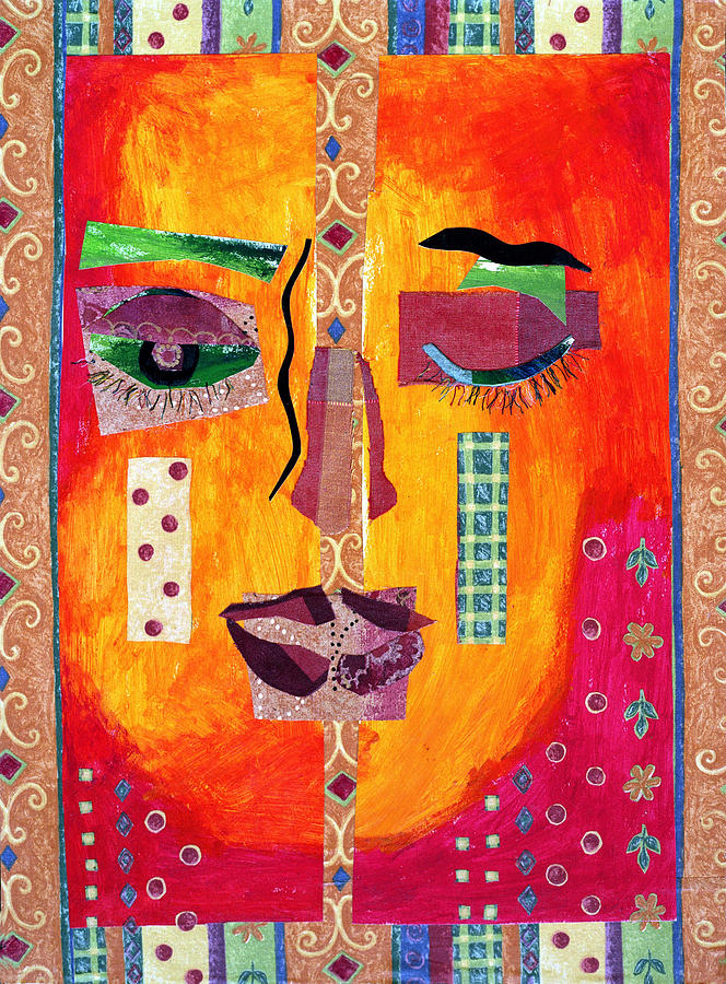 Mixed Media Collage Mixed Media - Split Personality by Diane Fine