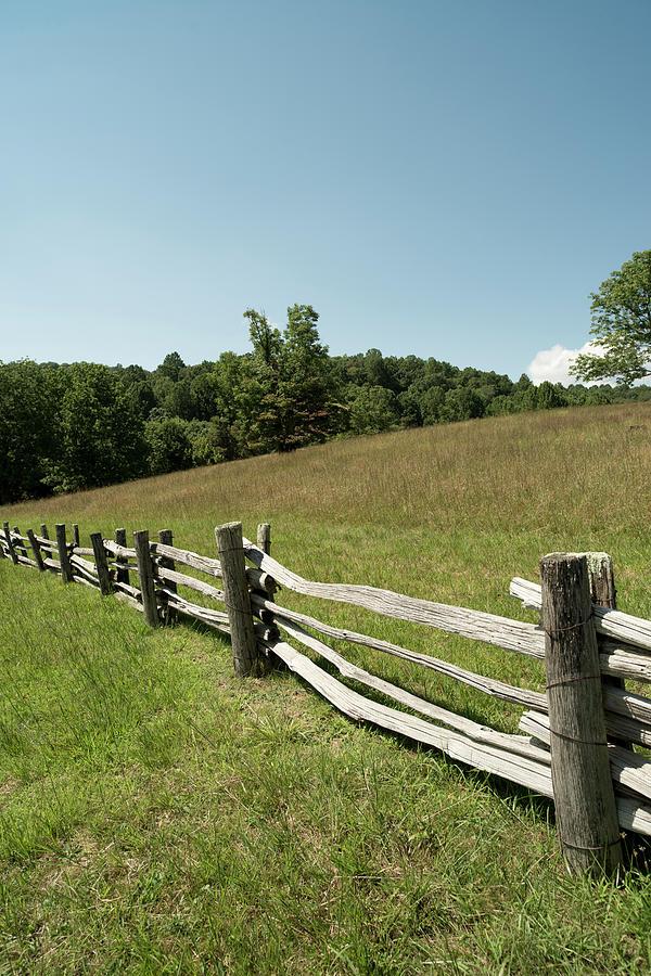 Split Rail Fence, Blue Ridge Parkway Photograph by Cameron Davidson