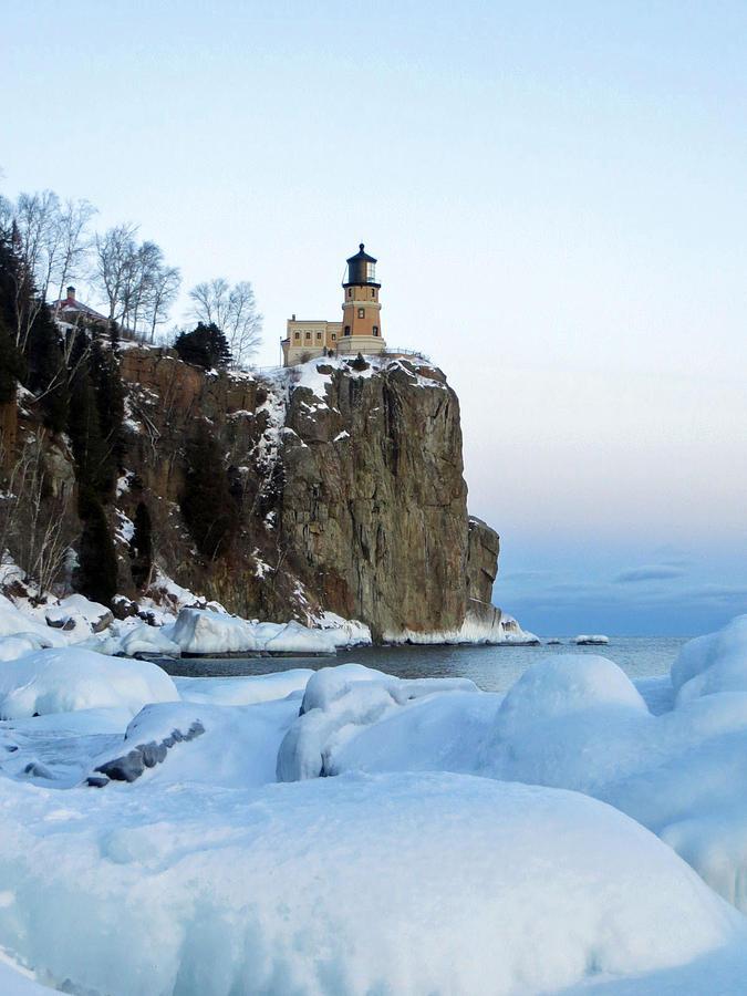 Split Rock Photograph - Split Rock Lighthouse by Alison Gimpel