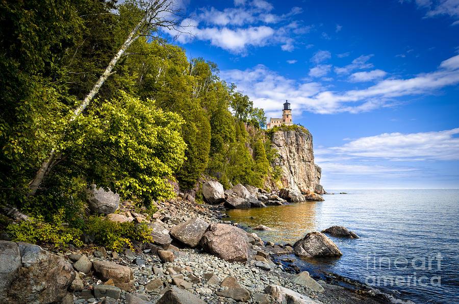Split Rock Lighthouse Photograph - Split Rock Shoreline by Ever-Curious Photography