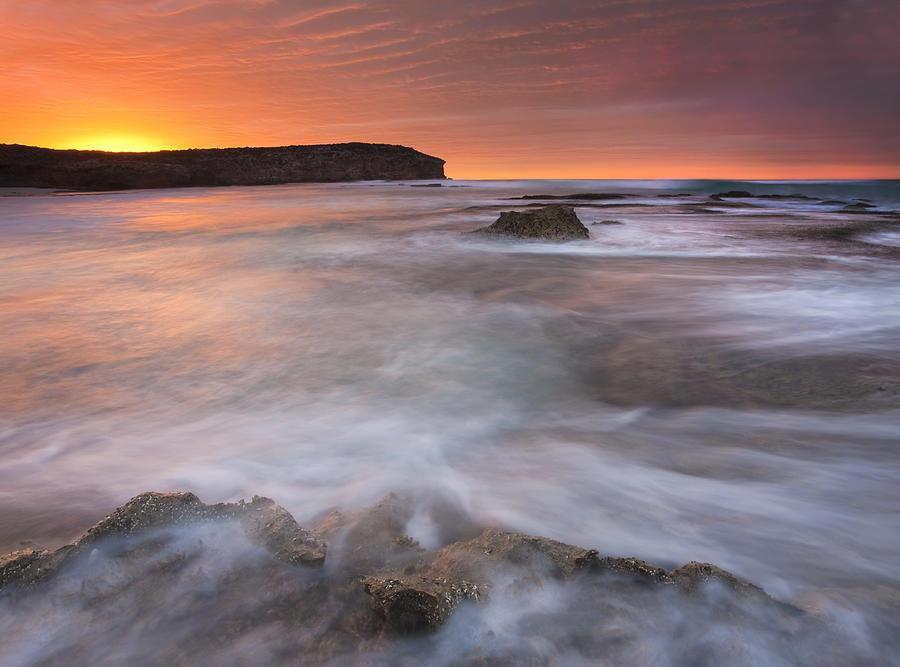 Sunrise Photograph - Splitting The Tides by Mike  Dawson