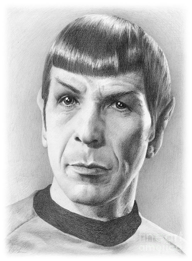 Spock Drawing - Spock - Fascinating by Liz Molnar