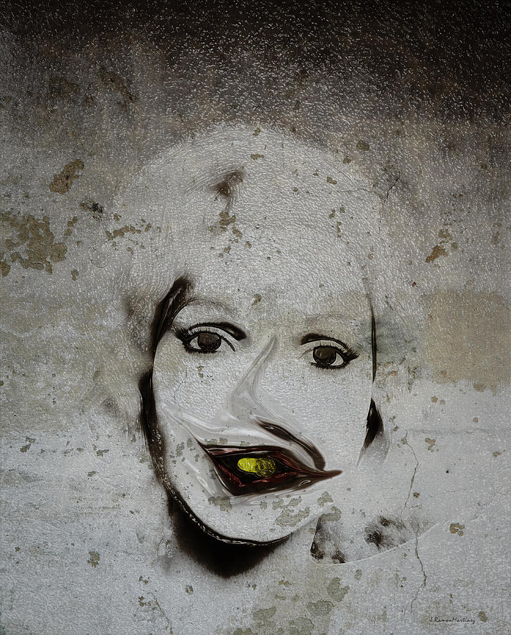 Portrait Digital Art - Spoiled Portrait In The Wall by Ramon Martinez