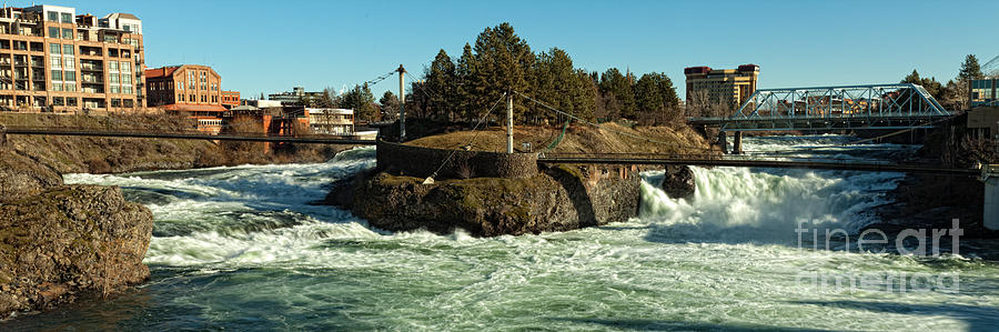 Spokane Falls - Spokane Washington Photograph - Spokane Falls - Spokane Washington by Beve Brown-Clark Photography
